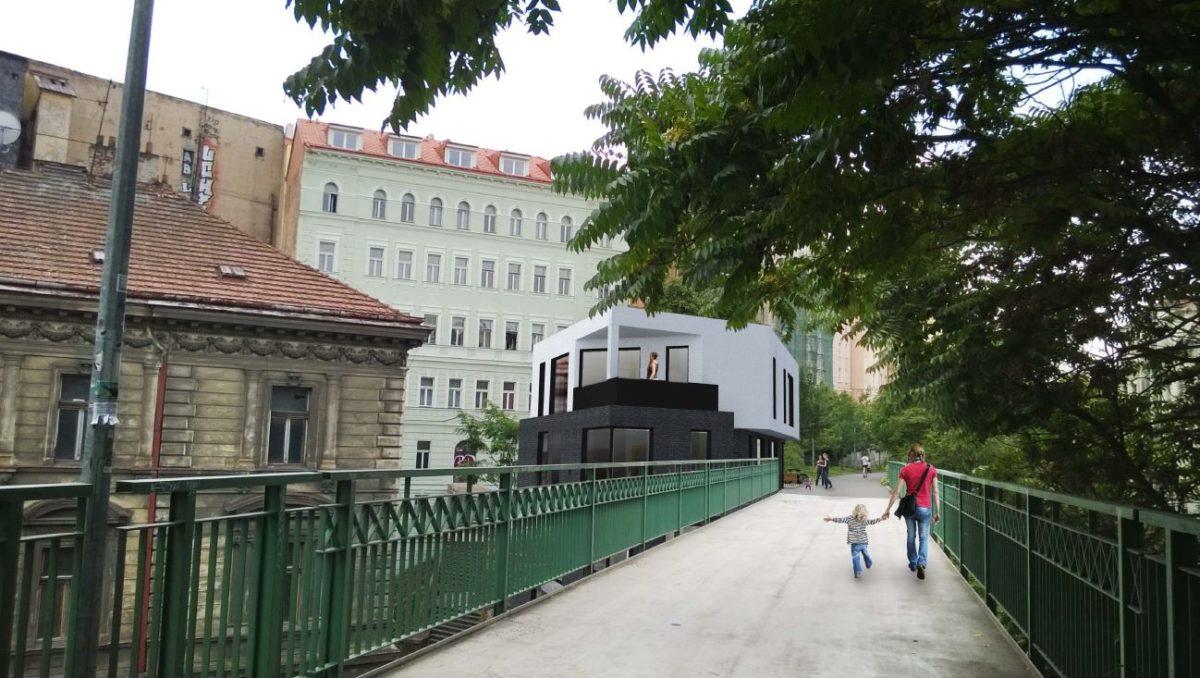 Nové žižkovské schody – polyfunkční dům